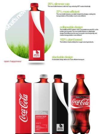 Изменение дизайна бутылок и банок Coca-Cola (34 фото)