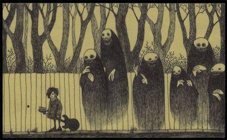 Страшные рисунки художника Донна Кена (16 фото)