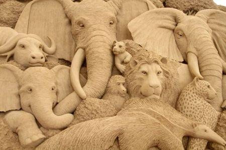 Музей песчаных скульптур в городе Тоттори, Япония (24 фото + 1 видео)