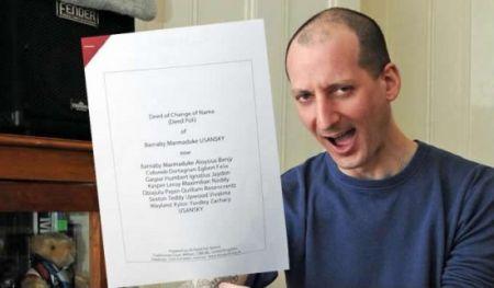 Человек с самым длинным именем в мире (2 фото)