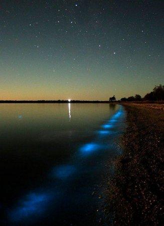 Светящееся озеро в Австралии (8 фото)