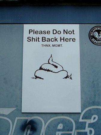 Таблички предупреждающие или запрещающие что либо (25 фото)