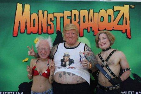 реалистичные маски претендентов в президенты